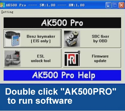 AK500Pro AK500 PRO Super Key Programmer For Mercedes Benz Without Remove ESL ESM ECU