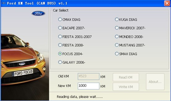 Xhorse KM Tool For Ford CAN BUS V2.0 odometer correction tool Update Online Fix Bugs of Accessing ECU