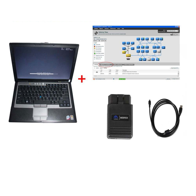 Chrysler Diagnostic Tool wiTech MicroPod 2 scanner V17.04.17 With DELL D630 or Lenovo T410 Laptop Ready To Use Update Online