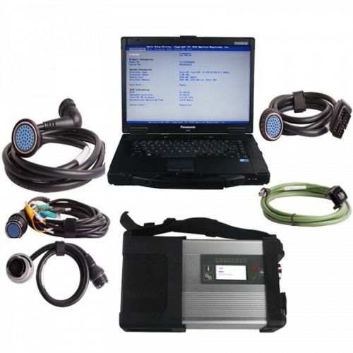 V2019.9 MB SD C5 Star Diagnosis Plus Panasonic CF52 Laptop Software Installed Ready to Use - Obdiiscantool.com