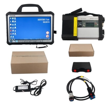 Original Mercedes BENZ C5 SD Xentry Connect Xentry Tab Kit Second Hand V2019.09 Support Online Update for One Year