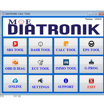2.0.0.11 Diatronik SRS+DASH+CALC+EPS OBD Tool with Gprog Lite SL Adapter Full Kit Support All Renesas and Infineon via OBD2