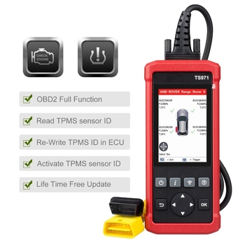 LAUNCH TS971 TPMS Bluetooth Activation Tool Wireless Car Tire Pressure Sensor Monitoring 433Mhz/315Mhz - Obdiiscantool.com