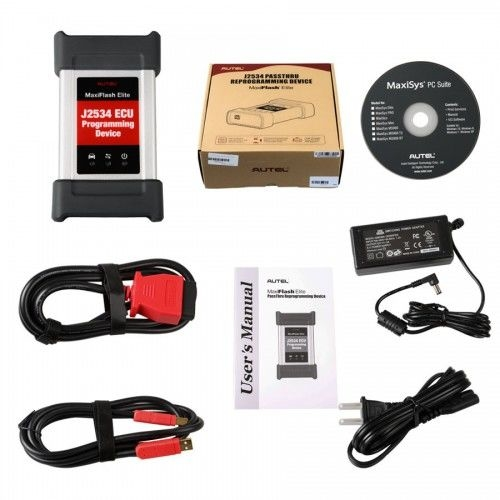 Autel MaxiFlash Elite J2534 ECU Programming Tool Works with Maxisys 908/908P