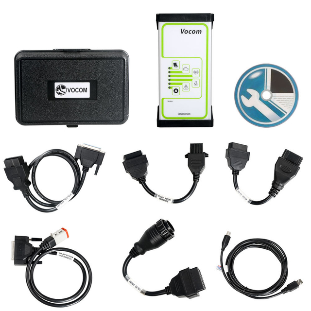 Volvo 88890300 Vocom Interface for Volvo/Renault/UD/Mack Multi-languages Truck Diagnose Square Interface Free Shipping - Obdiiscantool.com