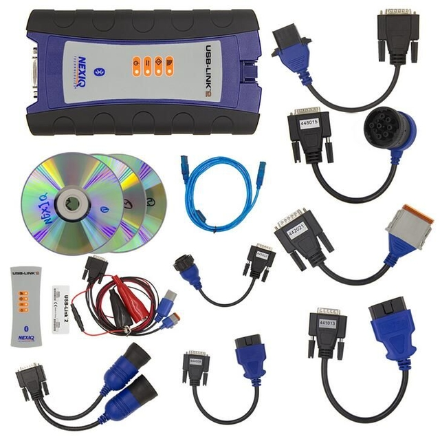 NEXIQ-2 USB Link + Software Diesel Truck Interface and Software with All Installers with Bluetooth