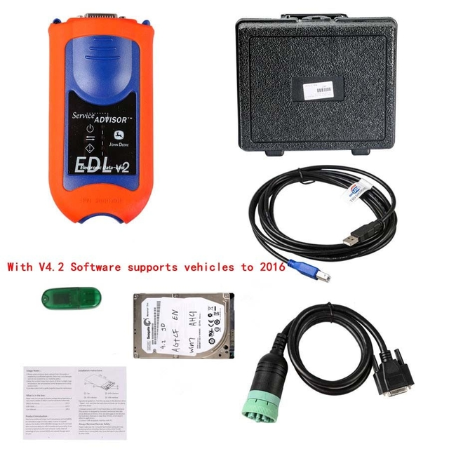 John Deere Service Advisor EDL V2 Diagnostic Tool with hard disk with 80G suit for all kinds of computer